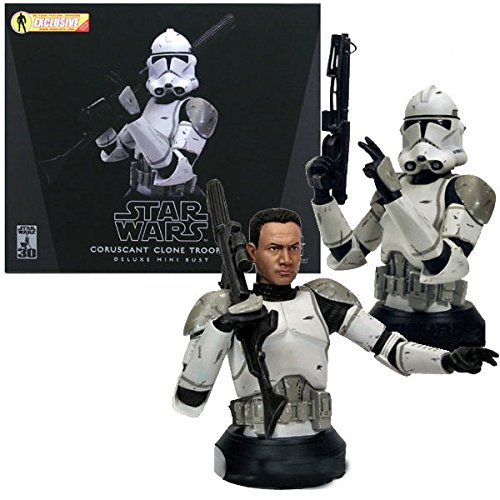 Gentle Giant Wars Star Busts - Star Wars - Coruscant Clone Trooper Deluxe mini Bust (Gray)