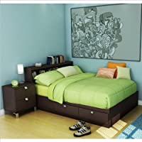 South Shore Cakao Kids Full Wood Storage Bed 3 Piece Bedroom Set In  Chocolate