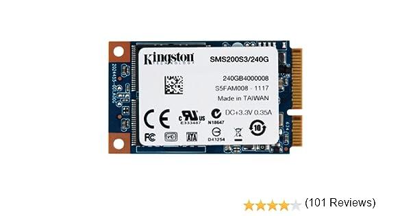 Kingston SSDNow - Disco Duro sólido Interno mSATA de 240 GB (6 ...