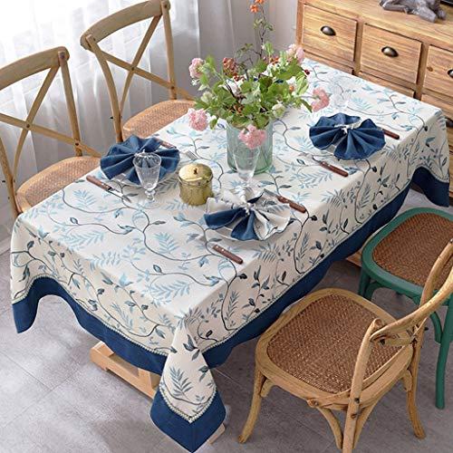 B 51.251.2in(130130cm) Rectangle Nappe,Personnalisable Coton Et Lin En Tissu Artisanat De Broderie Nappe De Table Salon Table De Thé Tissu De Décoration (Couleur   B, taille   51.2  51.2in(130  130cm))