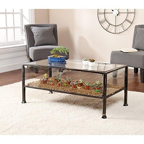 Black Glass Coffee Table Amazon: Amazon.com: Terrarium Display Cocktail Coffee Table
