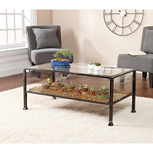 iron and glass coffee table - 4