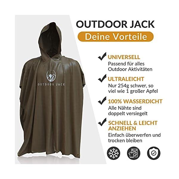 51uPP%2BUrGUS Outdoor Jack Regenponcho Damen und Herren inklusive Tragetasche – Poncho 100% wasserdicht – Regenmantel hochwertig und…