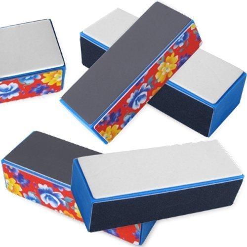 Kathy store INC 5pcs Nail Art Shiner Buffer 4 Ways Polish Sanding File Block Manicure Product (4 Step Buffing Block  Style-B)