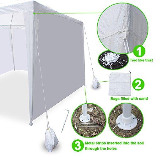 Zeny 174 10 X 30 White Party Wedding Tent Gazebo Canopy With