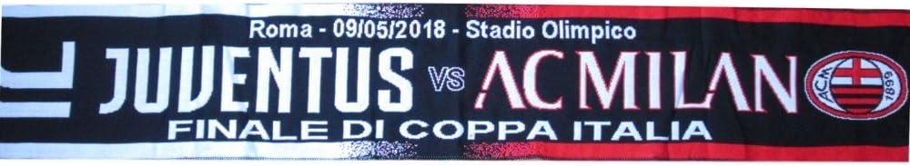 Sciarpa Ufficiale Juventus Milan 9 Maggio Finale Coppa Italia 2018 Stadio Olimpico