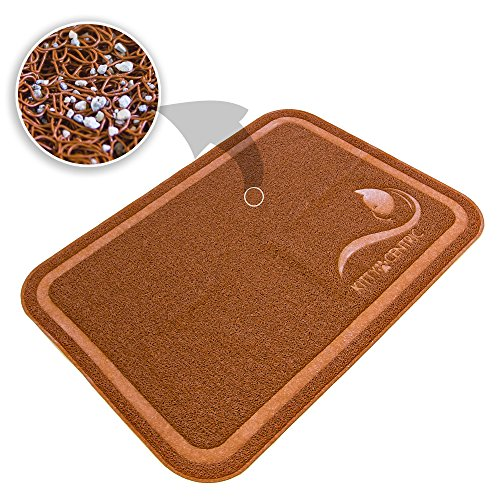 [Kittycentric Cat Litter Mat with Scatter Control, X-Large, 35.4