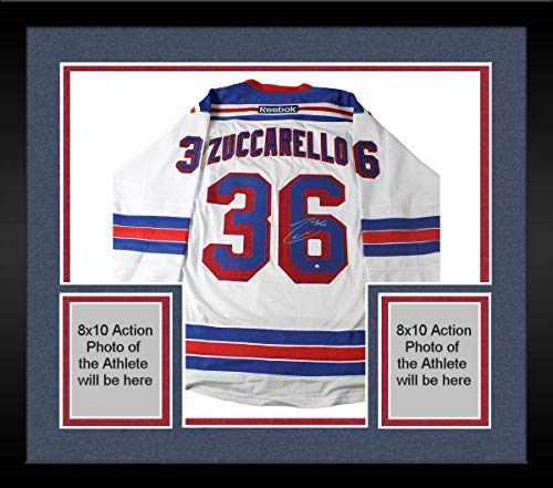 - Framed Mats Zuccarello Signed New York Rangers White Premier Jersey - Steiner Sports Certified - Autographed NHL Jerseys