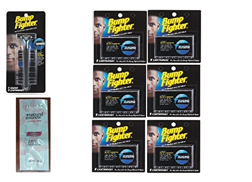 bump-fighter-refill-razor-w-2-cartridges-bump-fighter-refill-cartridge-blades-5-ea-pack-of-6-with-fr