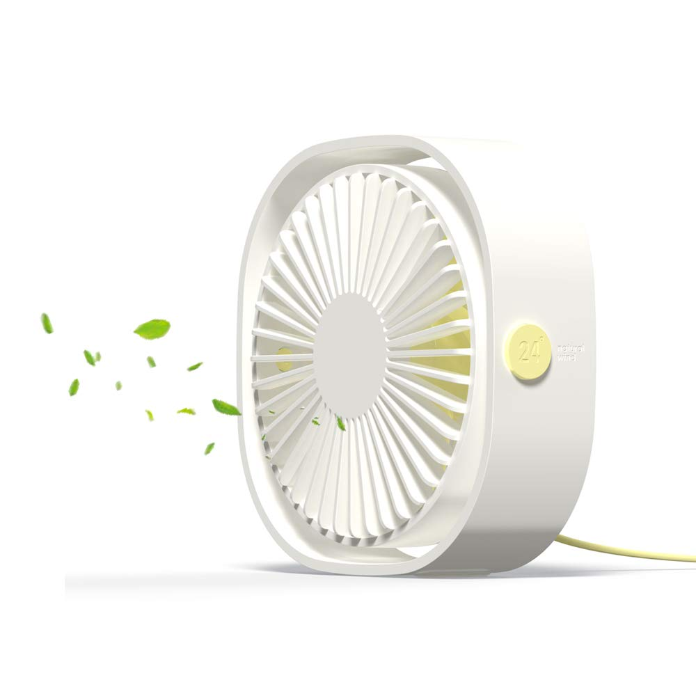 Quite USB Desk Fan 4 inch Portable Personal Fan with 4 Blades for Laptop,PC,Home,Office or Outdoor Activities