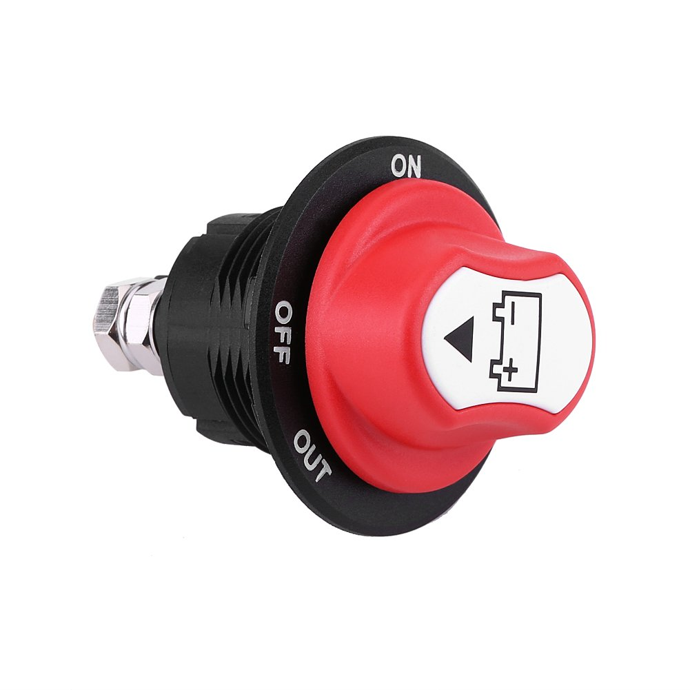 EBTOOLS Max 32V 100A CONT 150A INT Interruptor de Aislamiento de Bater/ía de Coche de Encendido//Apagado para Autom/óviles//Veh/ículo Vario//Camiones