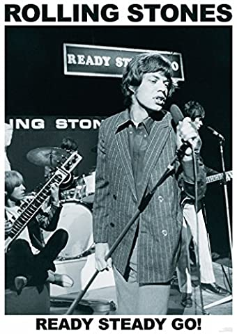 Rolling Stones Ready Steady Go! Music Poster 23.5x33 - Mick Jagger Band