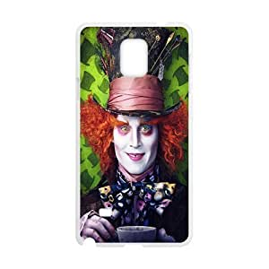 Mad Hatter From Alice In Wonderland Design Plastic Case Cover For Samsung Galaxy Note4