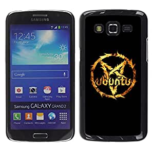 Design for Girls Plastic Cover Case FOR Samsung Galaxy Grand 2 pentagram star fire Linux cool OBBA