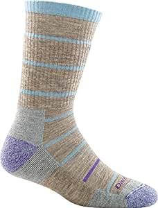 Darn Tough Summit Stripe Cushion Boot Sock - Women's Pebbles Small DISCONTINUED