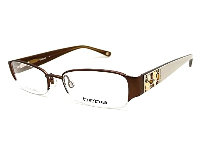d476710caabb Image Unavailable. Image not available for. Colour  BEBE EYEGLASSES BB 5015  WHITE SMOKED TOPAZ AMOROUS