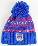 ranger hockey hat - NHL American Needle Gusto Cuffed Pom Beanie Knit Hat (New York Rangers)