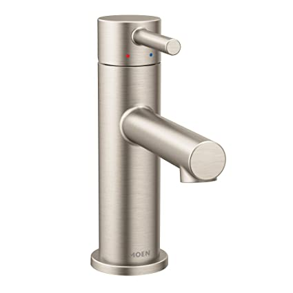 Fantastic Moen 6190Bn Align One Handle Modern Bathroom Faucet With Drain Assembly And Optional Deckplate Brushed Nickel Home Interior And Landscaping Mentranervesignezvosmurscom