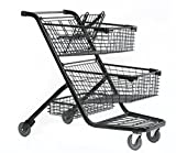 Advance Carts 300xls-Black-3pack XL Series Shopping Cart, 240 L, Black Powder Coat (Pack of 3)