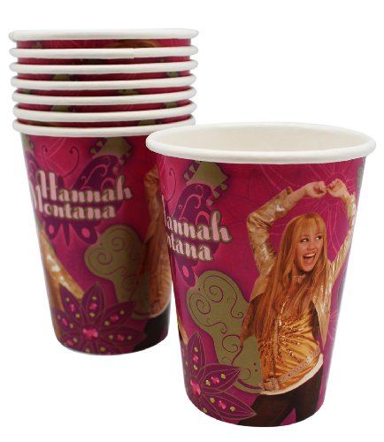 Pink and Purple Hannah Montana Paper Cup Birthday Party Favor