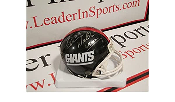 95c176214 Amazon.com: Everson Walls Autographed Mini New York Giants Helmet with  Super Bowl Inscription: Sports Collectibles