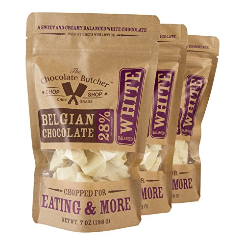 Chopped White Chocolate -- 28% Cocoa Content