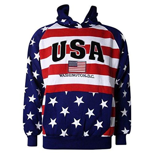 (Washington DC USA American Flag Sweatshirt)