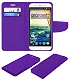 Acm Mobile Leather Flip Flap Wallet Case for Micromax Canvas Doodle 4 Q391 Mobile Cover Purple