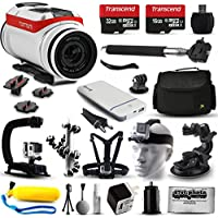 TomTom Bandit 4K HD Action Camera + Ultimate 20 Piece Accessories Package with 48GB Memory + Travel Case + USB Portable Charger + Head/Chest Strap + Opteka X-Grip + Car Mount & More!