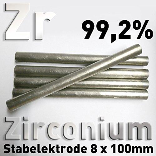 Round Bar Anode Diameter 8 mm x 100 mm CAS 7440-67-7 Electroplating Zr 702 Zirconium Pure Metal # 40