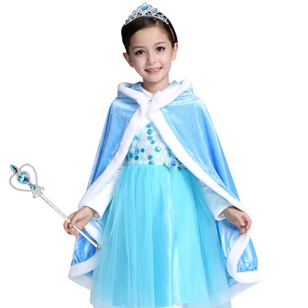 Vicloon Kinderkleider Madchen Tutu Sommer Eiskonigin Prinzessin Kostum Festlich Kleider Lang Baumwolle Blau 1pcs Elsa Kleid 3 4 Jahre Grosse 110cm Kleider Madchen Grupotecc Com Ar