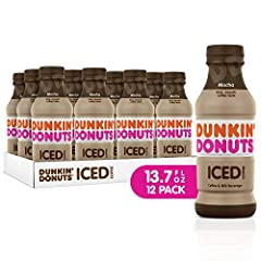 America's Iced Coffee is now bottled and ready to go. Each bottle is made with Dunkin's rich, signature smooth coffee or espresso, for the taste you know and love. Get your on-the-go boost anytime, anywhere with four delicious flavors: Mocha,...