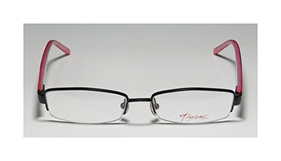 2e6e2d01939b Amazon.com  Thalia Luz Womens Ladies Designer Half-rim Flexible Hinges Genuine  Budget Optical Size Eyeglasses Eye Glasses (50-16-130