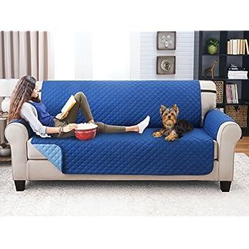 amazon com deluxe reversible sofa furniture protector blue light rh amazon com sofa furniture protector walmart sofa shield furniture protector
