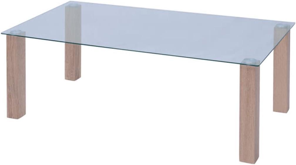 Mesa Baja de Cristal de 120 x 60 x 43 cm. Material: Patas de PFDM ...