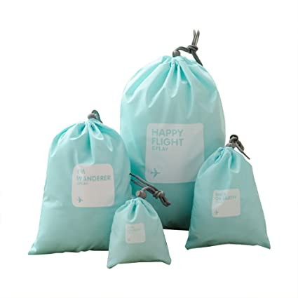 Ya Jin - 4 bolsas impermeables con cordón, bolsa de ...