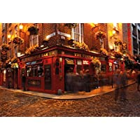 Dublin - Temple Bar Poster 36 x 24in by Posterstoponline