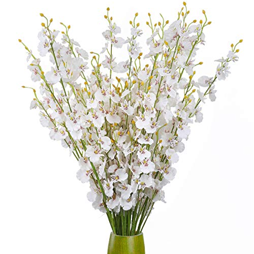 ULUK Artificial Orchids Flowers,12 Pcs Silk Fake Orchid