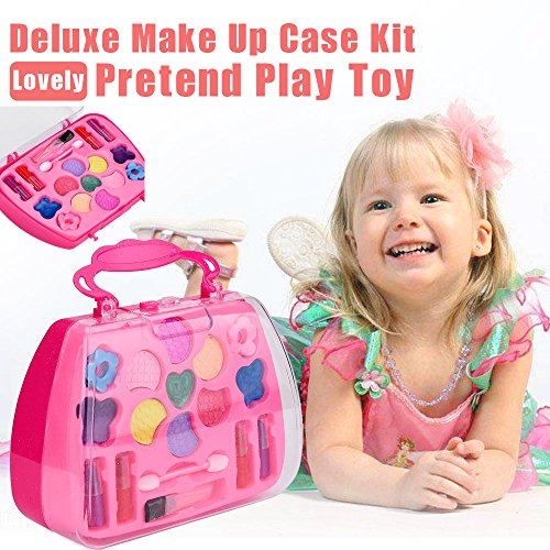 - Clothful  Princess Girl's Pretend Play Toy Deluxe Makeup Palette Set Non Toxic for Kids