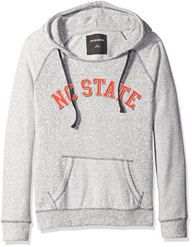 (NCAA North Carolina State Wolfpack Women's Reverse Sleeve and Pocket Hoodie, Large,)