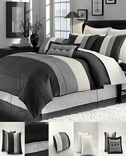 Black And White California King Bed In A Bag - 4