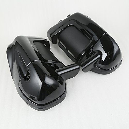 XMT-MOTO Black Lower Vented Leg Fairings Cap Glove Box For Harley-Davidson Touring Models 1983-2013 by XMT-MOTO (Image #8)