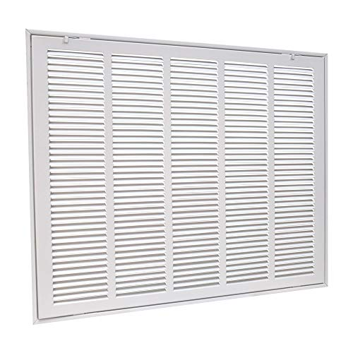 EZ-FLO 61634 Steel Return Air Filter Grille for Sidewall and Ceiling Installation, 25