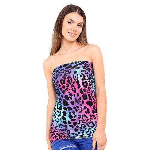 Rewatronics - Camiseta sin mangas - camisa - Sin mangas - para mujer Multi Leopard