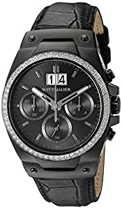Wittnauer Mens WN1012 24.5 mm Leather Crocodile Black Watch Strap from Bulova Corporation