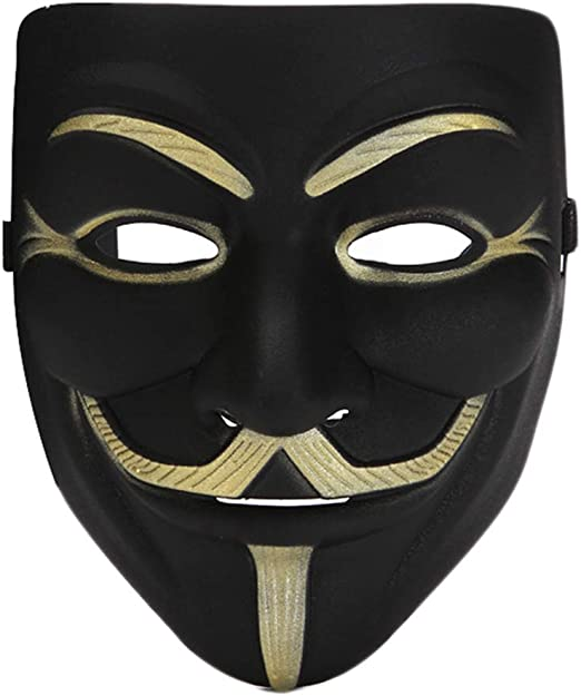 Sahalo Mask V para Vendetta Disfraces de Halloween Decoración para ...