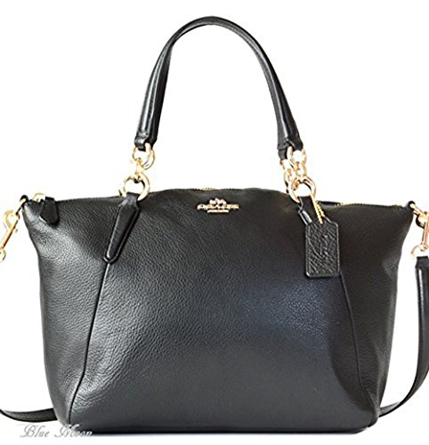 coach-pebble-leather-sm-kelsey-satchel-black