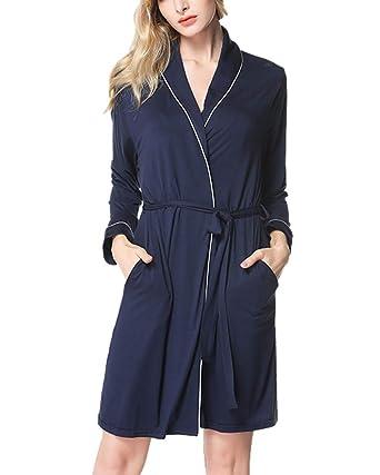 Mujer Batas Kimono Camisón Corta Pijama Túnica de Dormir: Amazon.es: Ropa y accesorios