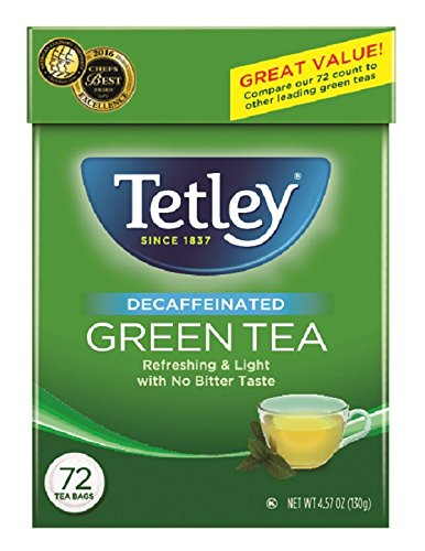 Decaf Tetley Tea (Tetley Green Tea, Decaffeinated, 72 Tea Bags (Pack of 6))