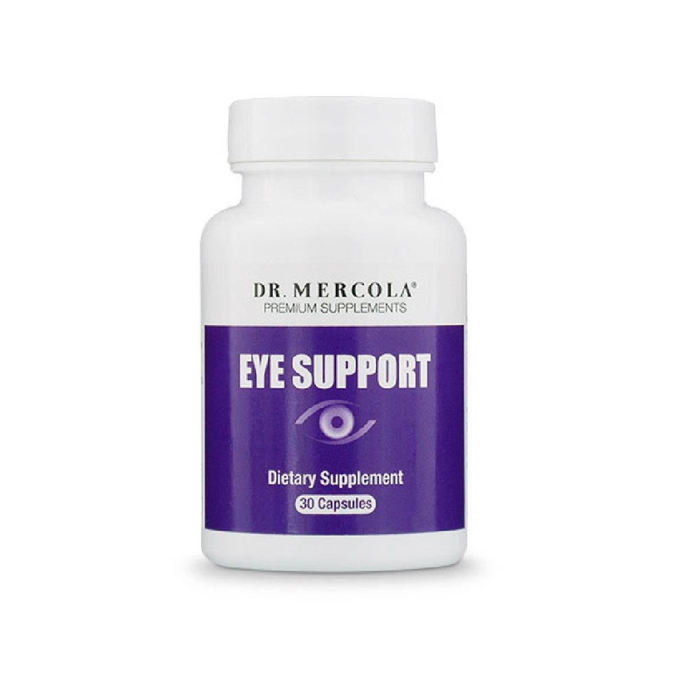 Dr. Mercola Eye Support - 30 Capsules - Lutein, Astaxanthin, Black Currant, Zeaxanthin - Top Antioxidant Support for Eyesight + Eye Health - Natural Source of Carotenoids - More Power than Vitamin E